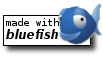 blauer Fisch auf weissem Hintergrund